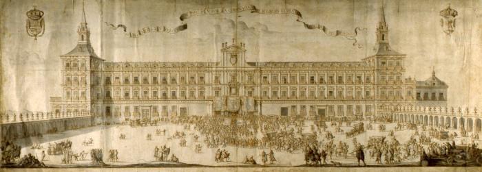 Coronación de Felipe V en el Alcázar de Madrid (30 de Noviembre de 1701)