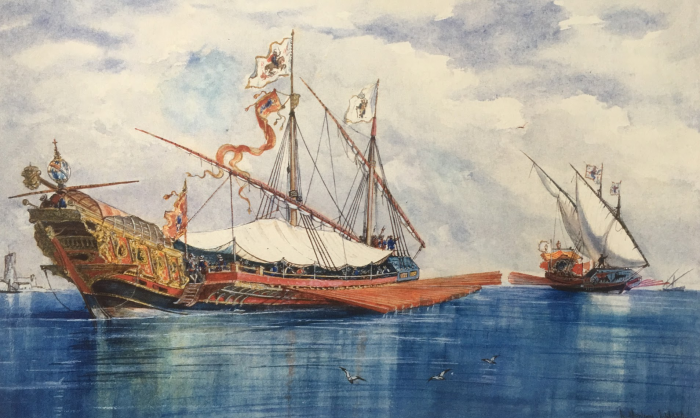 Estanque Retiro naumaquias batallas navales