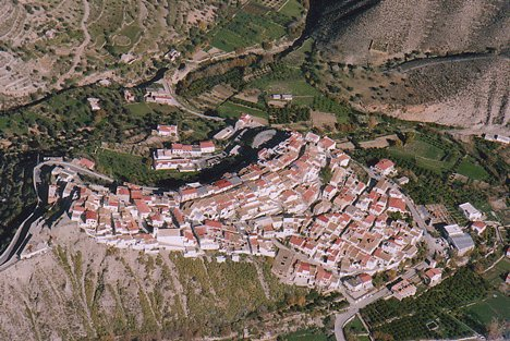 Vista aérea de Líjar, Almería, España