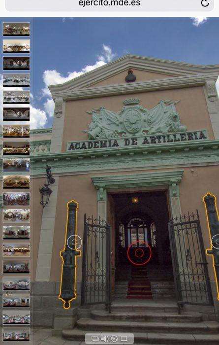 visita Academia Artillería ejercito