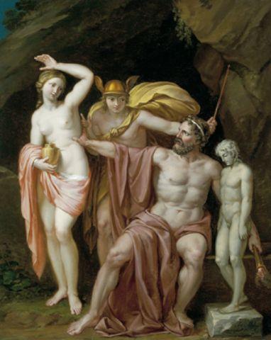 Prometeo, Mercurio y Pandora