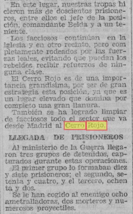 Prensa Guerra Civil Cerro Rojo guerra civil