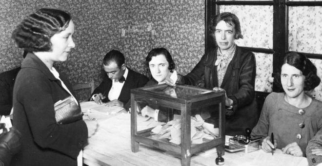 primer voto femenino